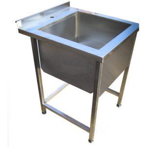 Ванна моечная односекционная из нержавеющей стали