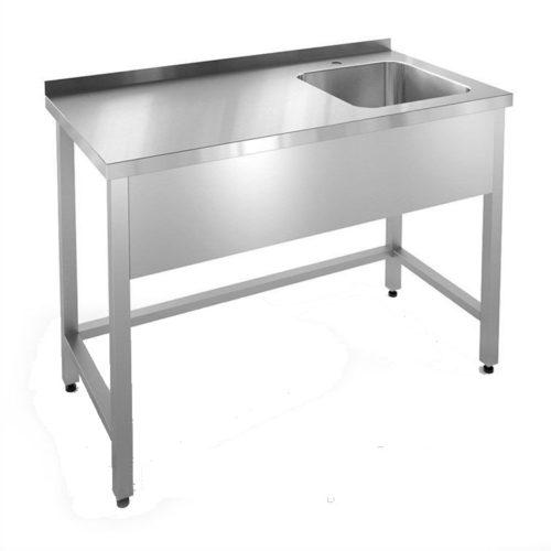 Ванна моечная со столом из нержавеющей стали