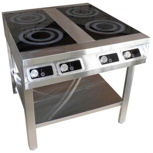 Плита индукционная 4-х конфорочная