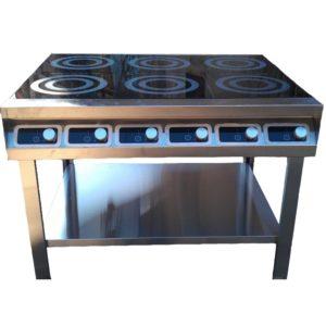 Плита индукционная 6-и конфорочная