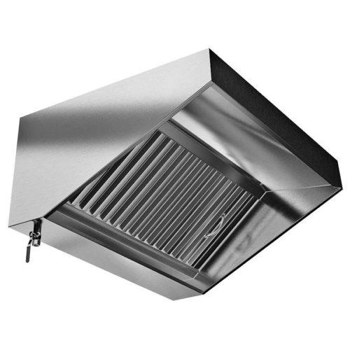Зонт вытяжной с жироулавливателем из нержавеющей стали
